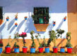 Colourful flowerpots, Andalucia