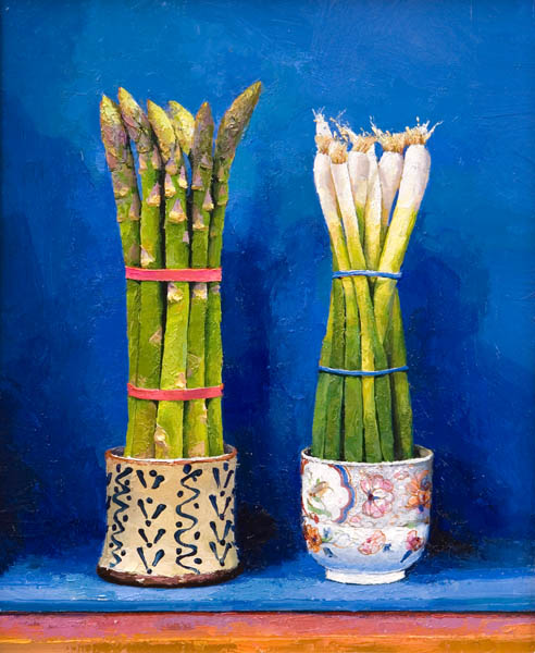 Asparagus and spring onions
